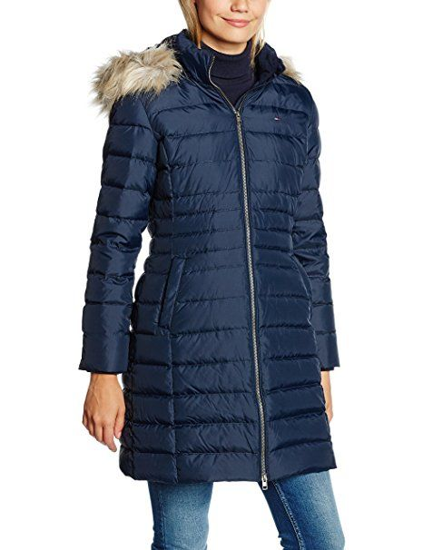 Hilfiger Denim DW0DW00511, Manteau Femme, Bleu (Navy Blazer), FR: 34 (Taille Fabricant: XS)