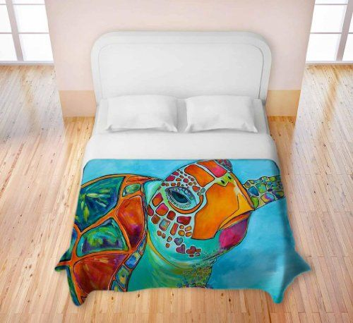 Duvet Cover Brushed Twill Twin, Queen, King from DiaNoche Designs by Patti Schermerhorn Home Decor and Bedding Ideas - Seaglass Sea Turtle DiaNoche Designs http://www.amazon.com/dp/B00GLLN1ZS/ref=cm_sw_r_pi_dp_EqwRtb1WZHHKMGH0