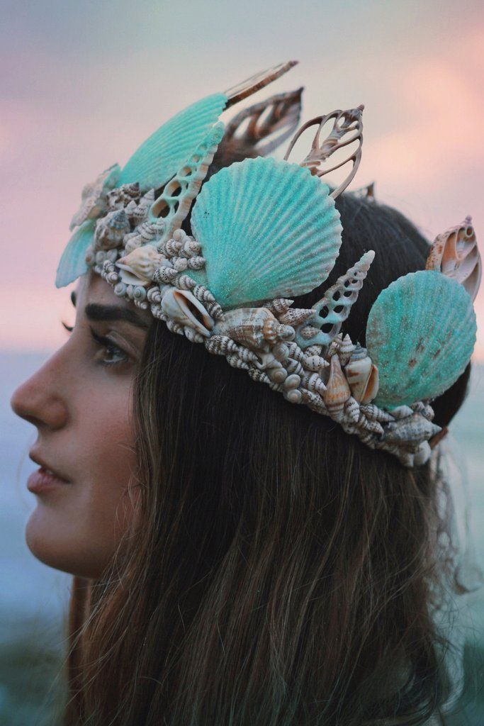 ☾ ☆☽ A Wild & Free Jewelry original design, reminiscent of tropical beaches and sea foam green waves. Covered in magical turquoise glitter that sparkles in the light. Handmade in California with real
