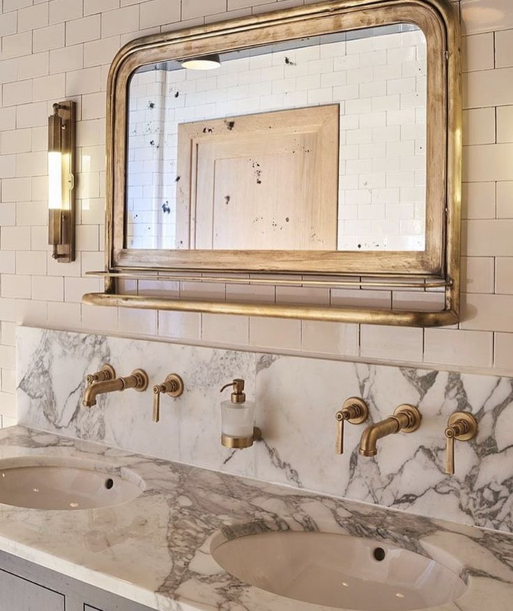 Counters + faucets coming out of the wall