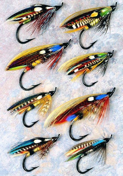 Classic feather wing atlantic salmon flies