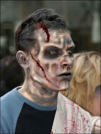 zombie makeup ideas | ... zombie make-up, taking part in the Zombie Walk, on the streets of