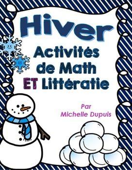 Activités de mathématiques et littératie sur le thème de l'hiver.