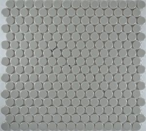 Product ID:MCP129 3/4X3/4 Penny Rnd Lt. Grey Gloss #Profiletile