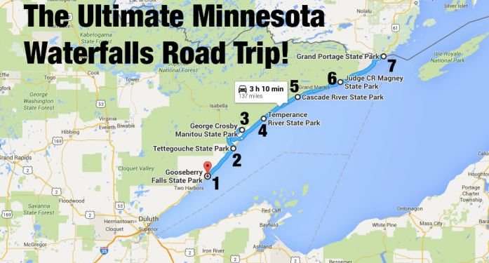 From Gooseberry to Grand Portage, you'll love this road trip featuring MN's best waterfalls! I've been to all of them and they are beautiful!