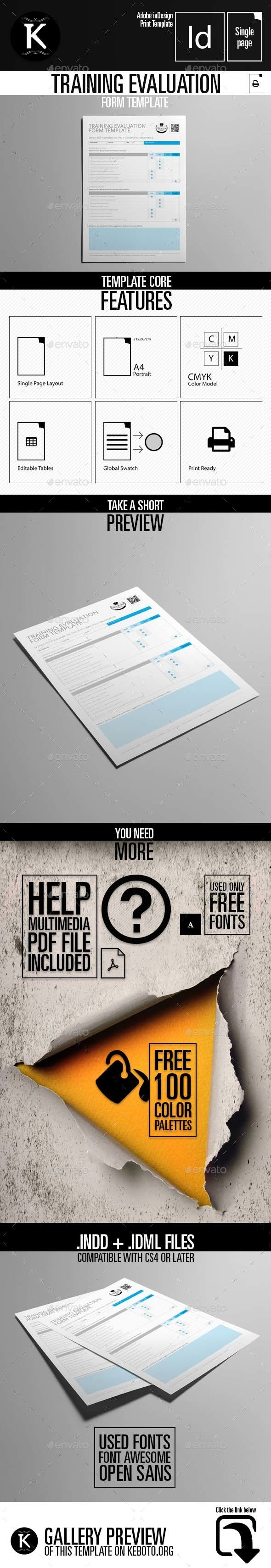 Poster design questionnaire - Training Evaluation Form Template