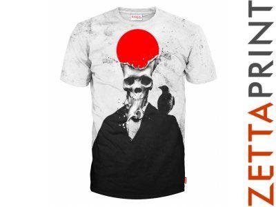 SKULL Tshirt Koszulka Full Print JSK_RD0012