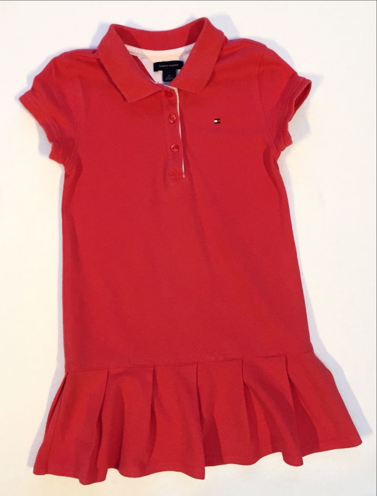 £9.99 - This red Tommy Hilfiger dress with layered detail on the bottom is very pretty This dress is perfect for summer with sandals