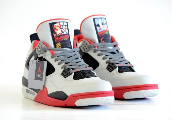 Air Jordan 4 NES Custom Mario Bros Dunk Hunt - Sneaker Bar Detroit