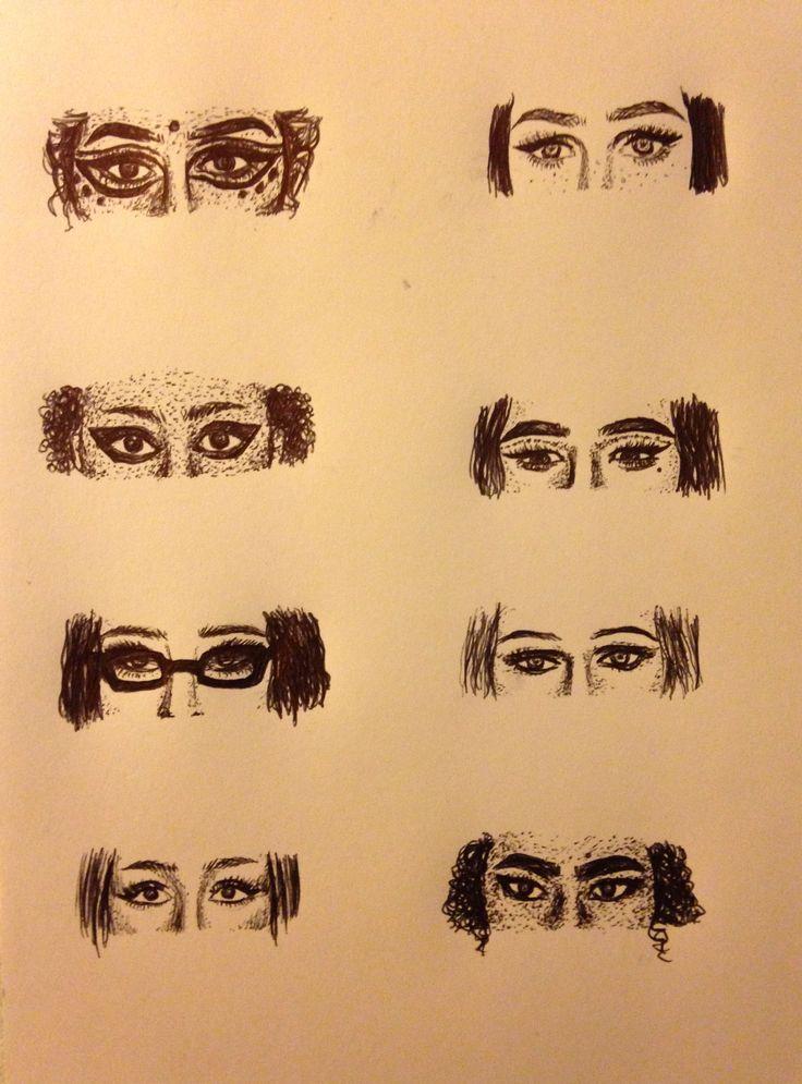 Eyes, pen drawing