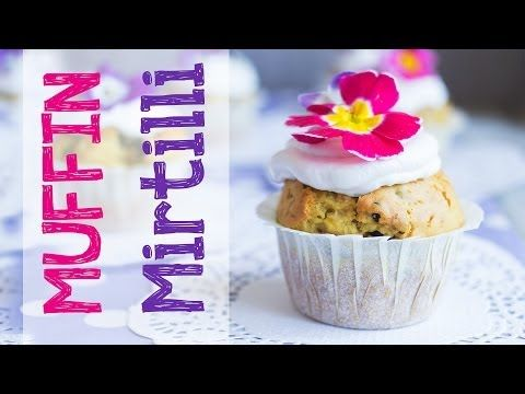 Muffin ai mirtilli vegan con frosting al cocco! - YouTube