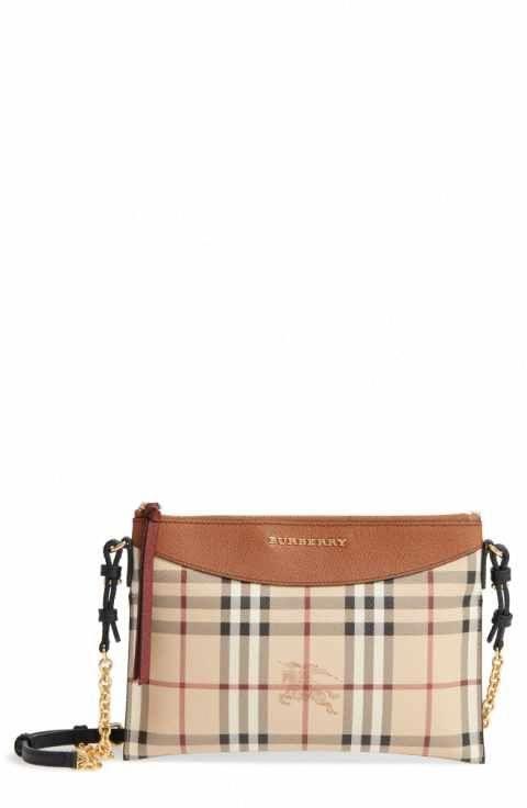 f4b66edcb59a Burberry Peyton - Haymarket Check Coated Canvas Crossbody Bag   Burberryhandbags