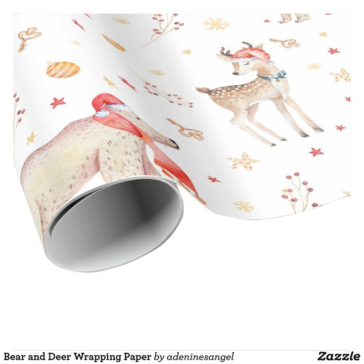 Bear and Deer Wrapping Paper
