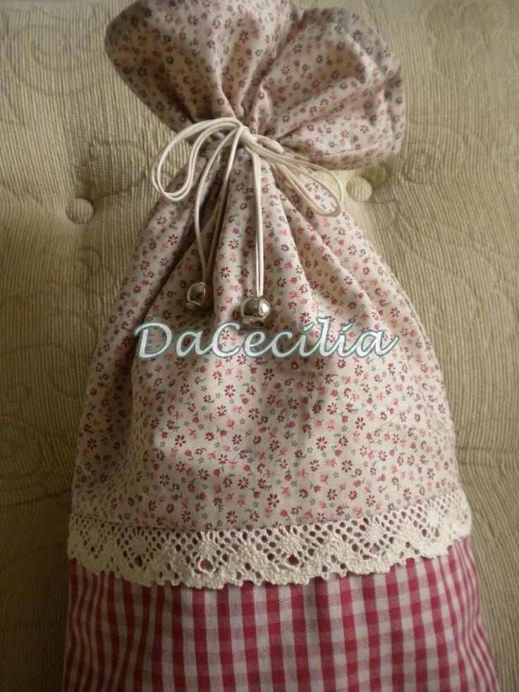 Embalagem sacola de tecido