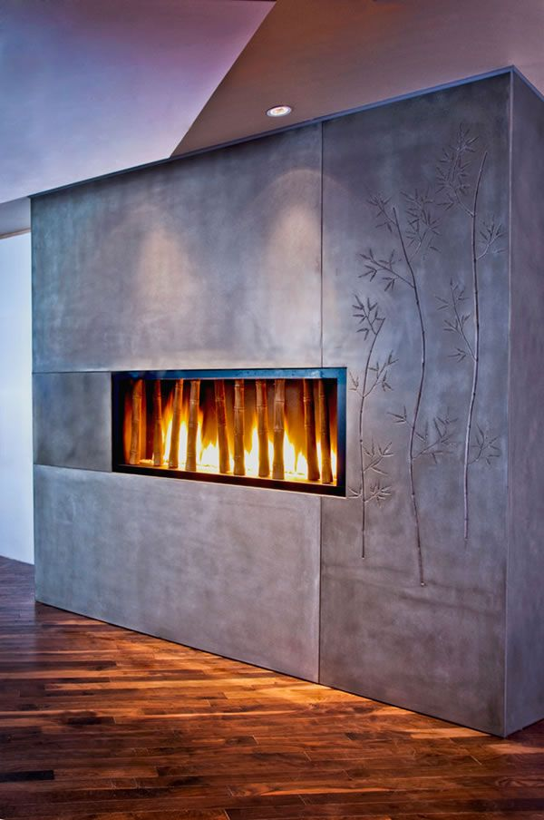 17 Best Images About Concrete Fireplaces On Pinterest