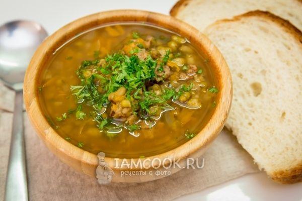 Суп с машем и говяжьим фаршем