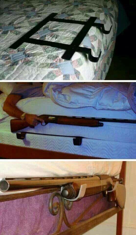 Shotgun bed rack