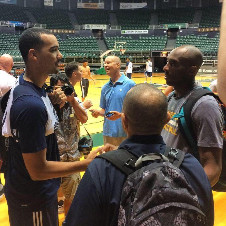 Trey Lyles meeting Kobe Bryant.