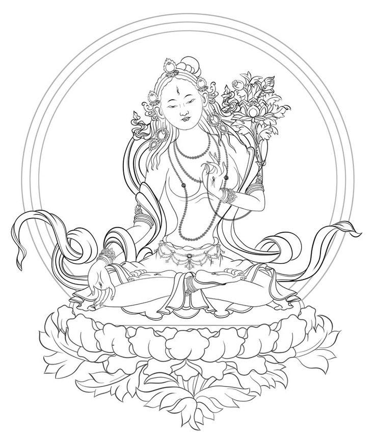 Drawing The Line Tattoos Tara Mccabe : Downloads stempels en stencils pinterest tibetan art