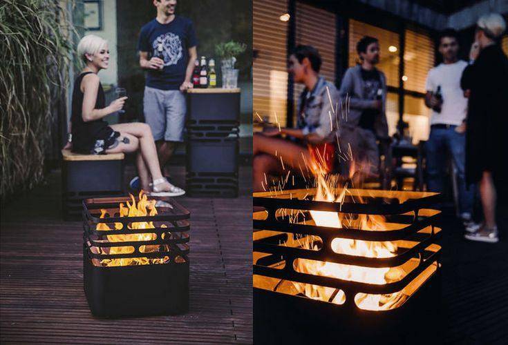 Portable Fire Pits - This Cube-Shaped Fire Basket is Made of Steel and is Completely Transportable (GALLERY)