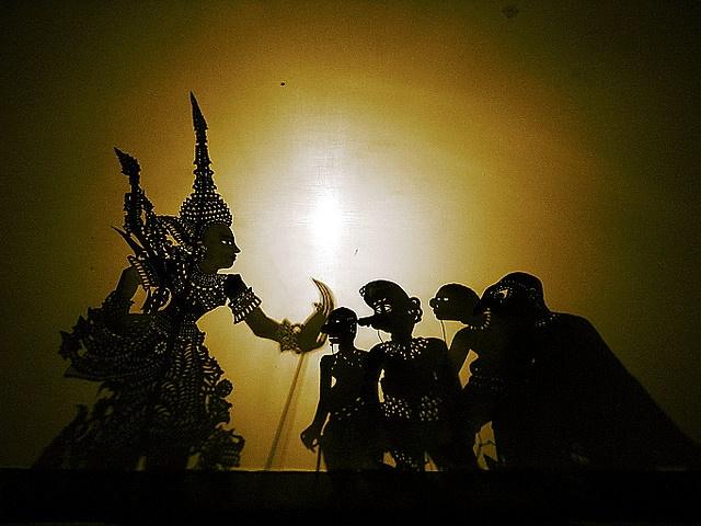 pupet show or wayang kulit at Kelantan,Malaysia