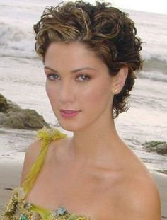 Delta-Goodrem-with-Curly-Hair-Short-Style by Mystic Hair Design