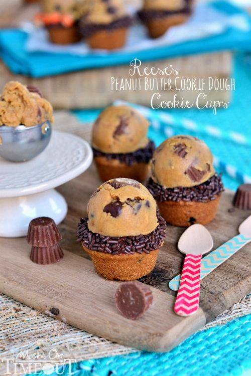 Reese's Peanut Butter Cookie Dough Cookie Cups   MomOnTimeout.com
