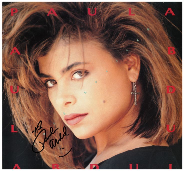 "My Paula Abdul signed Cold Hearted 12"" single LP"