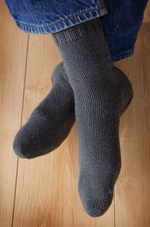 Two at Once, Toe Up, Magic Loop Socks Pattern - Knitting Patterns and Crochet Patterns from KnitPicks.com