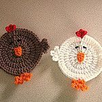 Chicken Coasters Free Crochet Pattern