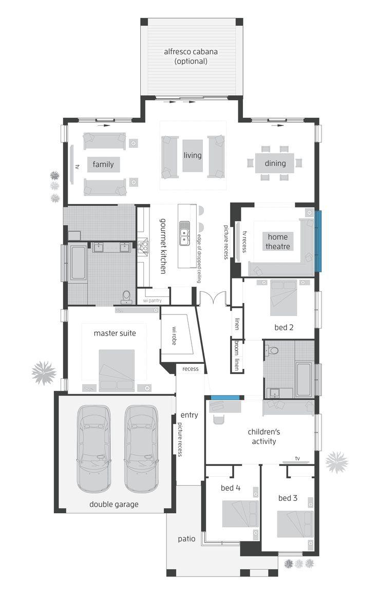 Beach House Grange - Rear Alfresco Floor Plan