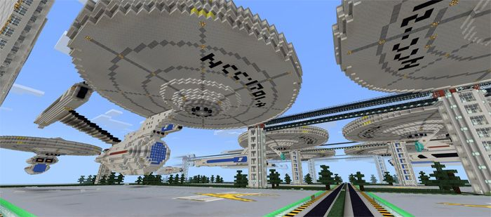 This map is a great suggestion for people who want to discover the Star Trek universe. You can find a big shipyard with a lot of ships from this universe. The shipyard may be used as PvP or an excellent tool to explore various ships. Star Trek Shipyards [Creation] Map now comes back with the... https://mcpebox.com/star-trek-shipyards-creation-map-minecraft-pe/