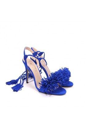 İLVİ 37572 Tufty Saks Mavi Topuklu Ayakkabı: Lidyana.com