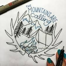 Image result for the mountains are calling tattoo
