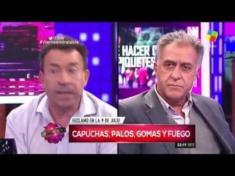 """Piquete """"no"""" vs. piquete """"sí"""": el duelo entre Pachano y Pitrola en Intra..."""