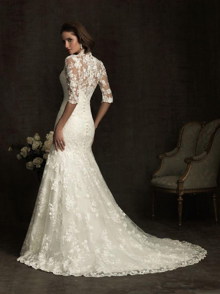 Allure Bridals 8900 Vintage Lace #Wedding Dress