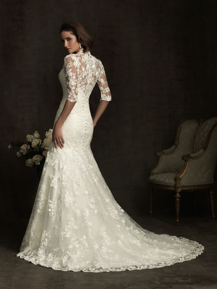 Allure Bridals 8900 Vintage Lace #Wedding Dress Isn't it uncanny that there is that special Wedding dress out there for everyone It gives you a little bit of the brides personality From 800 to 8000 to 8000000 u can pull it off  With what ever your lovely wallet u carry