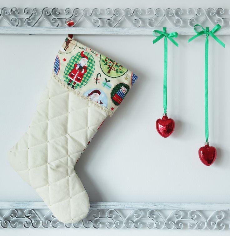 ...but Świętego Mikołaja...Christmas stocking...rękodzieło.Na sprzedaż 50 zł. agnieszkakreczynska.wix.com/sekretyszafy