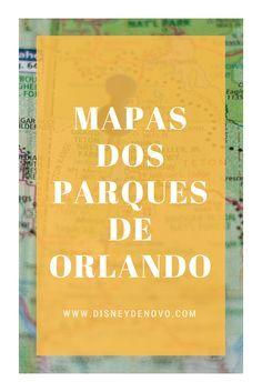 Mapas dos parques de Orlando