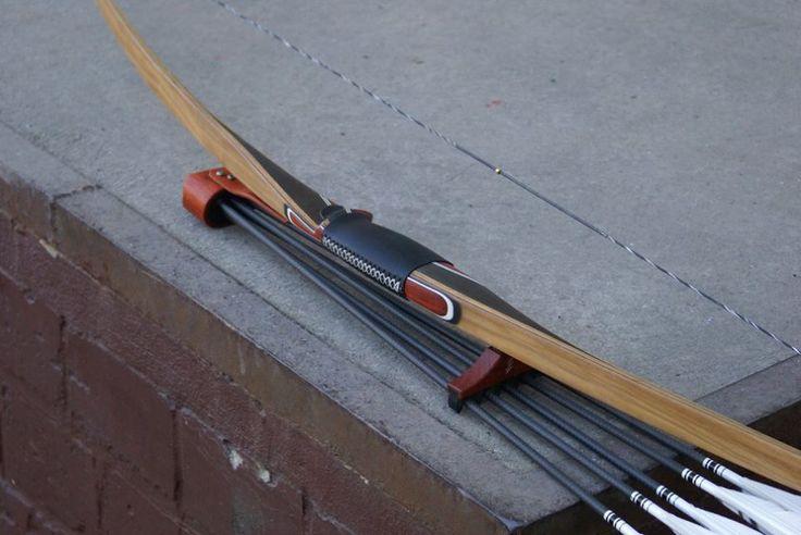Custom Longbow TD, Mycarta/Padouk, WA Olive, Bogenköcher Padouk
