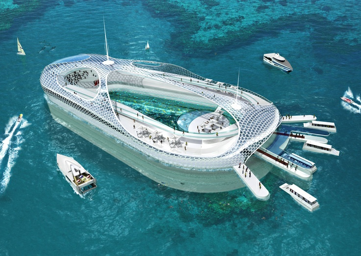 floating yacht harbor