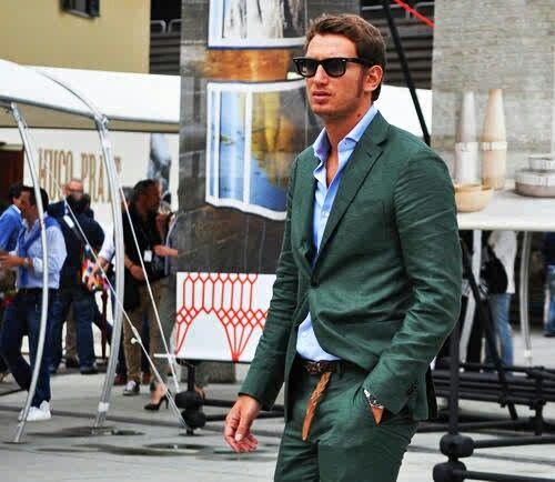 Green looks good on men too