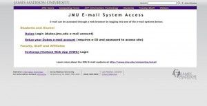 JMU email sign in
