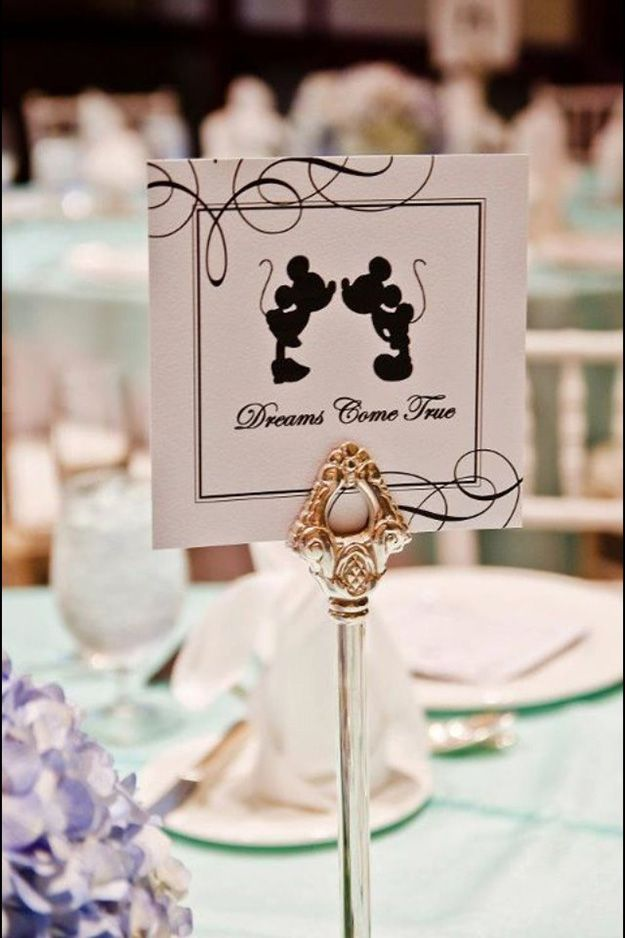 The final touches, such as your wedding table names, can often be the hardest to decide on – but they're worth every effort. To make it a little bit easier for you, we're sharing 30 of our favourites with you today. For a touch of charm and excitement, why not theme your tables to all things enchanting and romantic? 1. Disney magic Add a touch of magic to your wedding with Disney themed tables. You could include quotes, famous Disney sayings or popular characters.