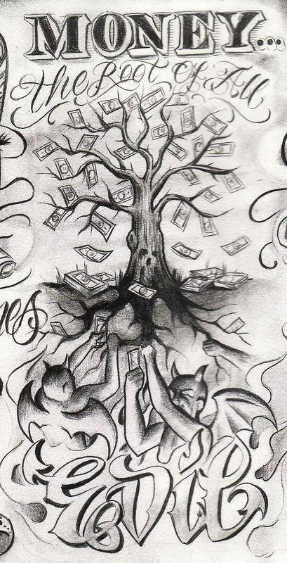 Money Is The Root Of All Evil Drawing