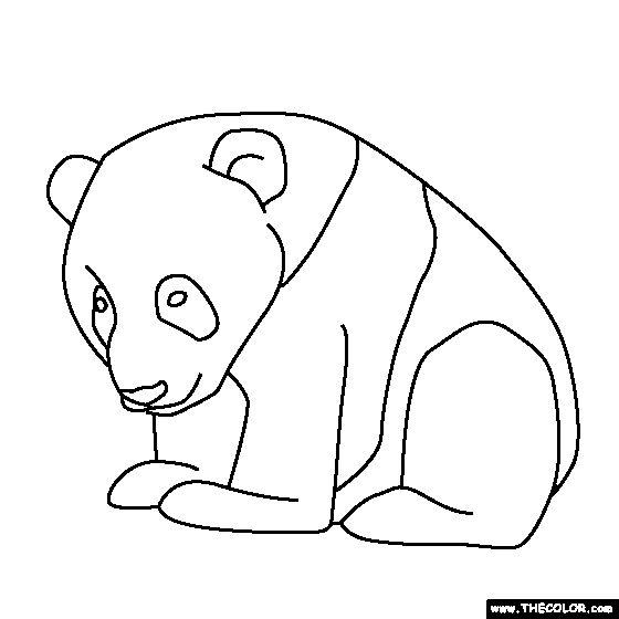 panda bears coloring pages - photo#14