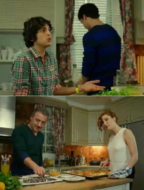 Family in the kitchen Suzan: Mr. Selim, sink it in eggs right away take it out and put it a little in the flour. Selim: I am doing that anyways. Suzan: If you want you can Selim: Dear Suzan, you have already burnt your hand. Stay away. It will hurt again Mert: Yes Suzi. You're like commander-in-chief to us.Pleas, get out of the kitchen. We will continue as we know. Ender: Dear Suzan, you better leave. Suzan: I understood, you're kicking me out. I am going right away. Mr. Selim don't let the…