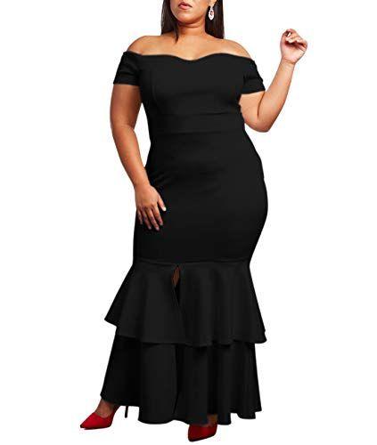 a1e3f3f03a New Lalagen Lalagen Womens Off Shoulder Bodycon Ruffle Mermaid Plus Size  Party Maxi Dress womens dresses. [$29.99 - 34.99] allshoppingideas.ga  Fashion is a ...