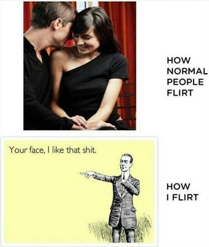Mann flirtet mit mir