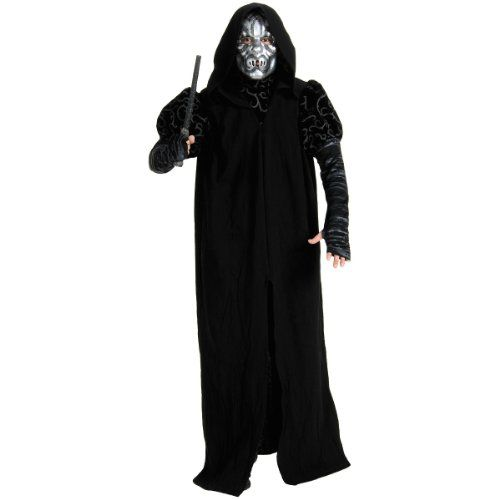 Harry Potter - Death Eater Deluxe Adult Halloween Costume (Standard One-Size) @ niftywarehouse.com #NiftyWarehouse #HarryPotter #Wizards #Books #Movies #Sorcerer #Wizard